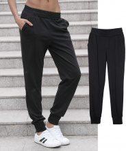 Pantaloni in felpa con fondogamba elastico a tinta unita