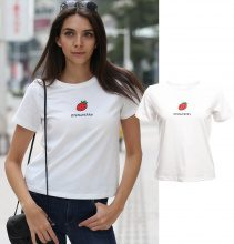 T-shirt con stampa Strawberry