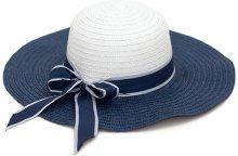Cappello di paglia con fiocco