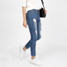 Jeans skinny alla caviglia used look