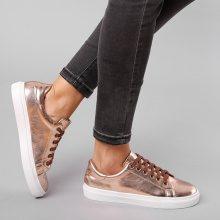 Sneakers metallizzate in colore pastello
