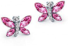 Orecchini strass con farfalle