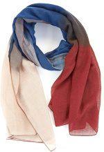 Sciarpa leggera con sfumatura di colore a contrasto
