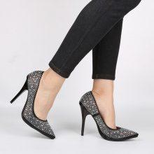 Scarpe con tacco alto e strass