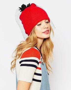Alice Hannah - Cappello con rosa e velo