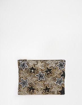 ASOS - Pochette decorata con stelle coordinata