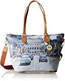 Ynot Shopping M, Borsa a Spalla Donna, Multicolore (Weekend in Rome), 40 x 25.5 x 15 cm (W x H x L)