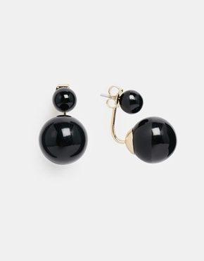 Monki - Front & Back - Orecchini pendenti con sfere