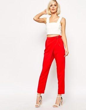 Lavish Alice - Pantaloni con pinces e anello a D