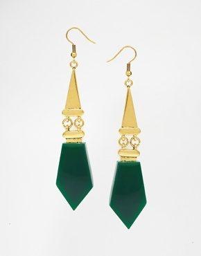 Little Mistress - Orecchini pendenti smeraldo stile Art Déco