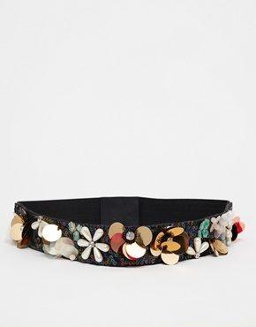 ASOS - Cintura con decorazioni floreali