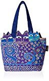Laurel Burch Laurel Burch Tote Zipper Top, 12 da 3-1 / 2 per 8-1 / 2 pollici, Tres Gatos, Blu / Oro