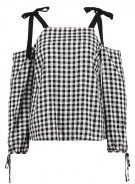 GINGHAM - Camicetta - black