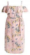 New Look Curves FLORAL Vestito estivo pink pattern