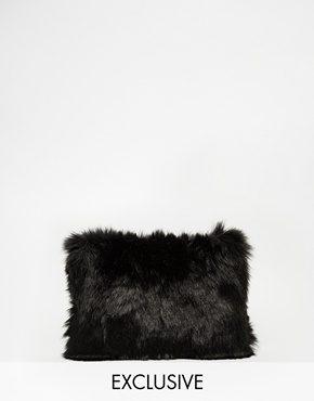 Story of Lola - Pochette in pelliccia sintetica nera