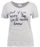 NINA - T-shirt con stampa - chalk/midnight marine