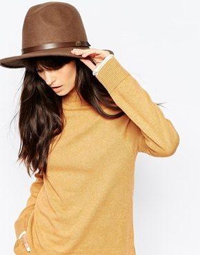 Christys' - Borsalino stile safari con falda ampia in lana e feltro