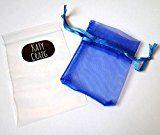 Katy Craig - Orecchini a perno in acciaio INOX chirurgico (non si ossida/sbiadisce) con gemma di cristallo di Boemia rotonda, classici, dimensioni 6 mm, forniti in confezione regalo, colore: Blu zaffiro