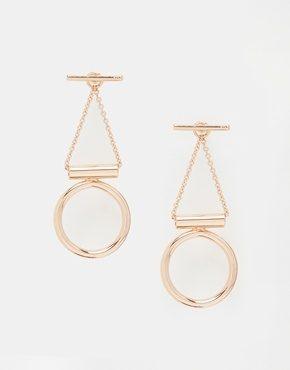 Whistles - Orecchini pendenti geometrici con cerchi