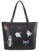 VIENA - Shopping bag - black
