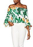 FIND Tropical Print Bandeau, Camicia Donna