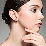 F.ZENI Orecchini Donna Perla 925 argento sterling perle di acqua dolce zirconi Fiore Orecchini per donna