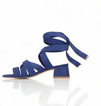 FIND Sandali con Tacco Donna, Blu (Blue), 38 EU