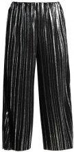 Pantaloni - black/silver