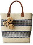 Women Secret BT Stripes Bag - sacchetto di stoffa e la spiaggia Donna, Varios colores (Several), 15x35x47 cm (W x H L)