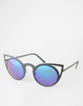 Quay Australia - Invader - Occhiali da sole a occhi di gatto a specchio