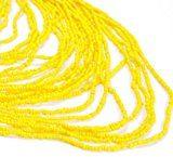 Collana da Donna Lunga Bead Regalo Nappa Giallo Multifili