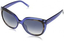 Escada Ses391M, Occhiali da Sole Donna, Blue (Shiny Transparent Azure), Unica