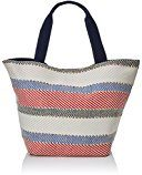 Women's Secret FE - Stripes Bag Borse da spiaggia Donna, Azul, 26x15x41 cm (L x H L)