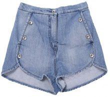 Pantaloncini Vita Alta Denim Indigo