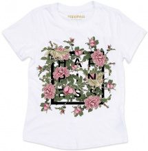 T-shirt Donna Splendida - Happiness Logo Rose