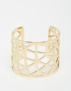 ASOS - Bracciale rigido con cut-out geometrico