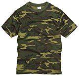 100% Cotone Stile Militare T-shirt - Militare