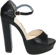 Sandali con tacco alto quadrato