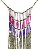 Perline Colorate E Gioielli Di Moda Collana Catena Costume Indiano
