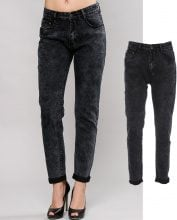 Jeans mom acid washed