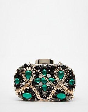 ALDO - Pochette squadrata con smeraldo verde decorativo