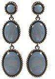 Bijoux pour tous fantasia in metallo, colore: canna di fucile, vetro e madreperla, colore: grigio, motivo barocco