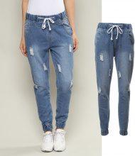 Jogger jeans con fondogamba elastico