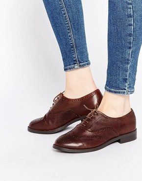 New Look - Scarpe brogue in pelle a pianta larga