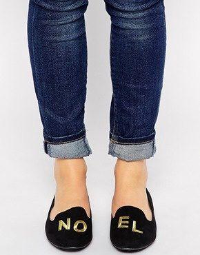 New Look - Loel - Scarpe piatte con scritta innovativa