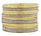 Lux Accessories dorato e adesivo pietra multi braccialetto confezione