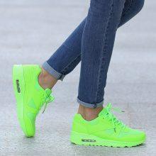 Sneakers mesh con tallone imbottito