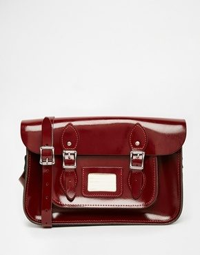 The Leather Satchel Company - Cartella in vernice da 12,5