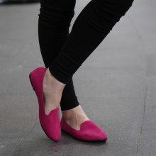 Loafers effetto scamosciato