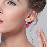 EVER FAITH-Orecchini Donna con Argento Figura 8 Infinito Cuore Ciondola gli orecchini con Cristalli da Swarovski